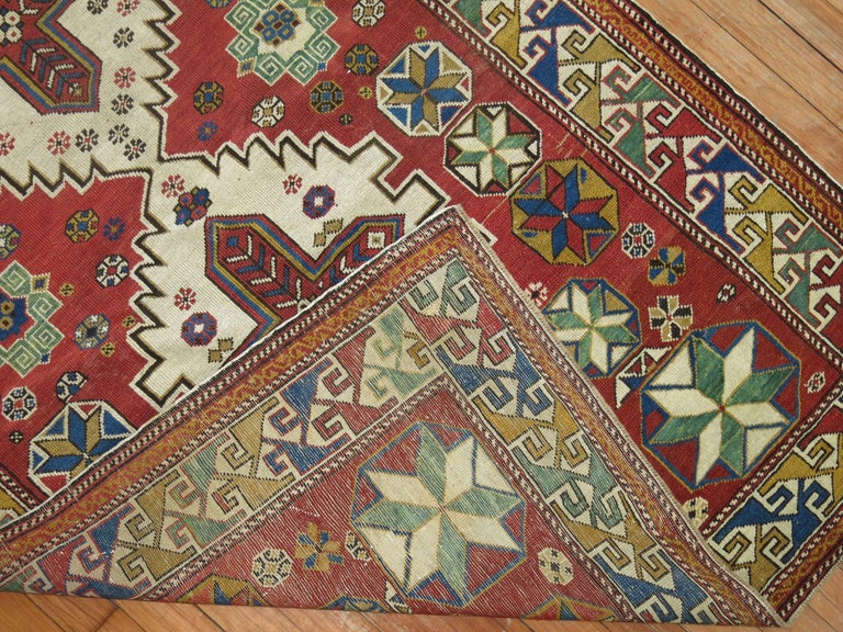 International Style Antique Shirvan Rug For Sale