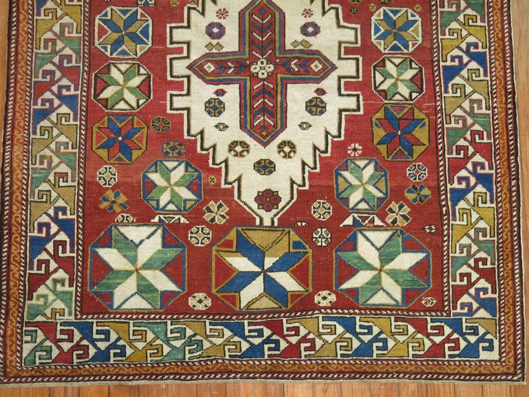 Hand-Woven Antique Shirvan Rug For Sale