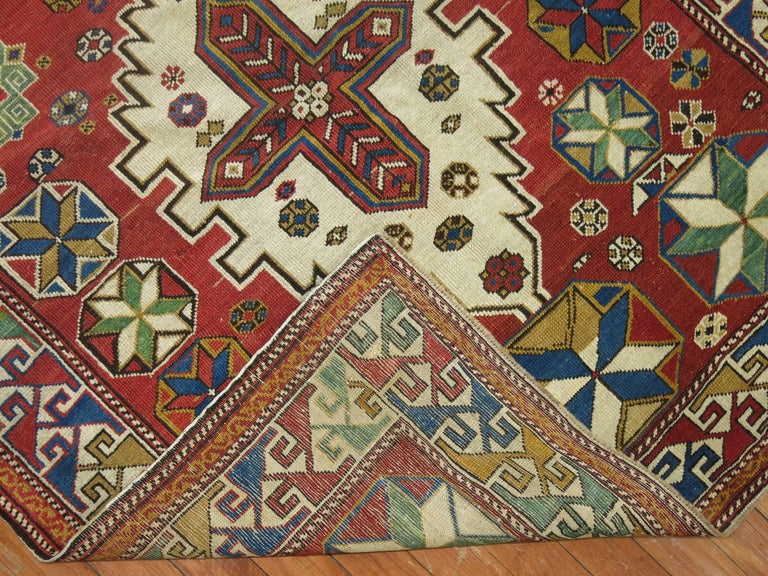 Antique Shirvan Rug In Excellent Condition For Sale In New York, NY