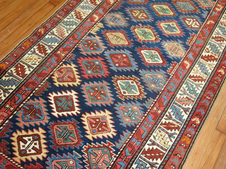 Kazak Antique Shirvan Short Runner For Sale