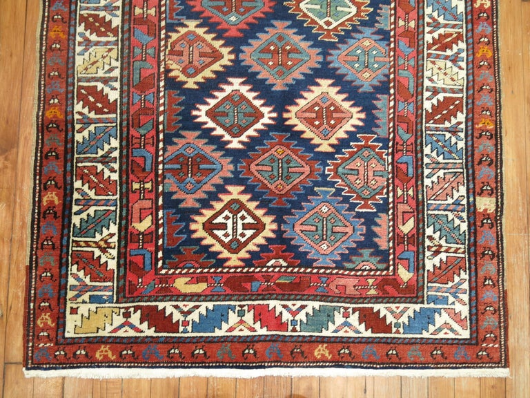 Caucasian Antique Shirvan Short Runner For Sale