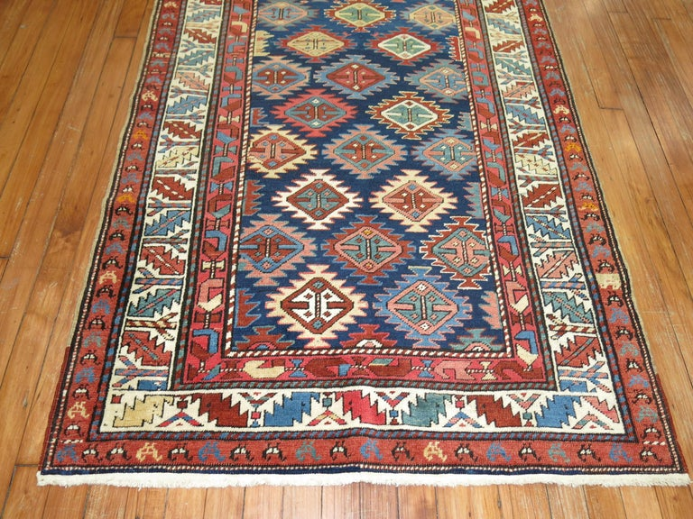 Hand-Woven Antique Shirvan Short Runner For Sale