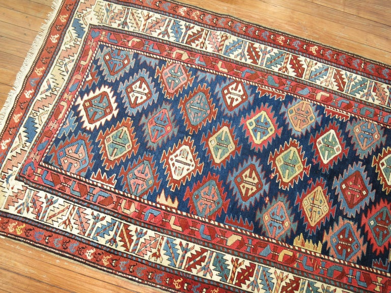 Antique Shirvan Short Runner In Good Condition For Sale In New York, NY