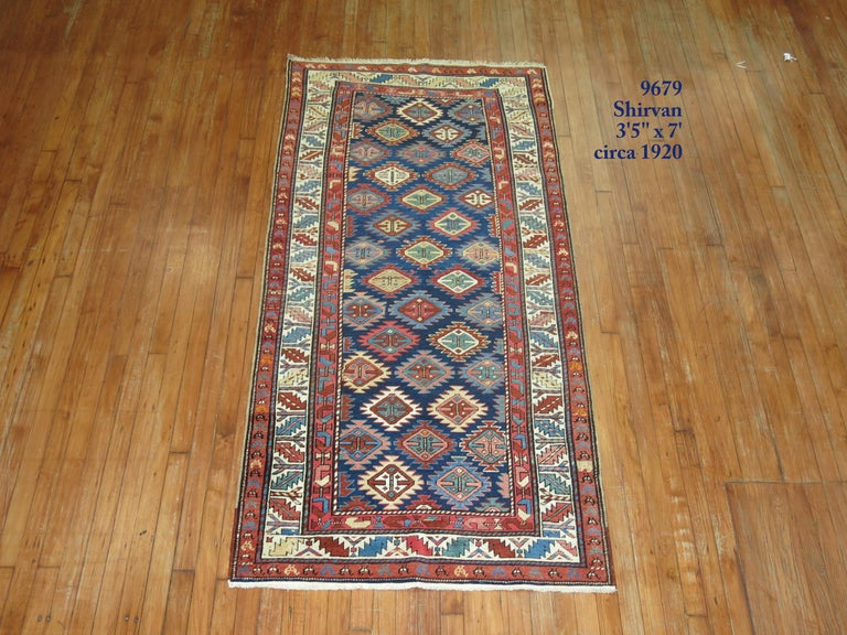20th Century Antique Shirvan Short Runner For Sale