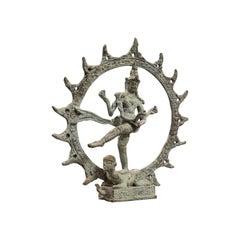 Antique Shiva Nataraja Figure, Indian, Chola Bronze, Mystic Statue, 17th Century