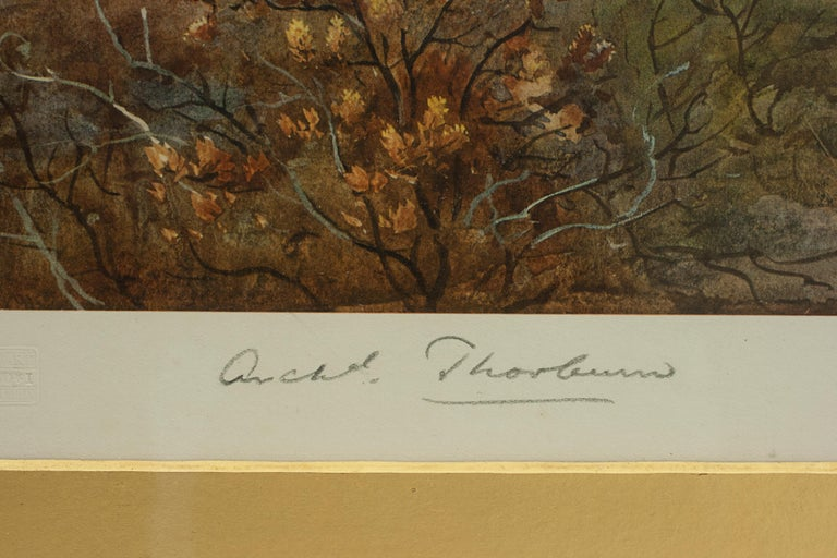 Antique Shooting Picture Game Birds by Archibald Thorburn 1927 In Good Condition For Sale In Oxfordshire, GB