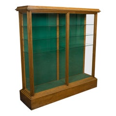 Antique Shop Display Cabinet, English, Victorian, Ash, Fitting, circa 1900