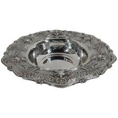 Antique Shreve Sterling Silver Centerpiece Bowl in Adam Pattern