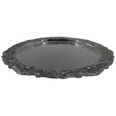 Antique Shreve Sterling Silver Tray in Desirable Adam Pattern