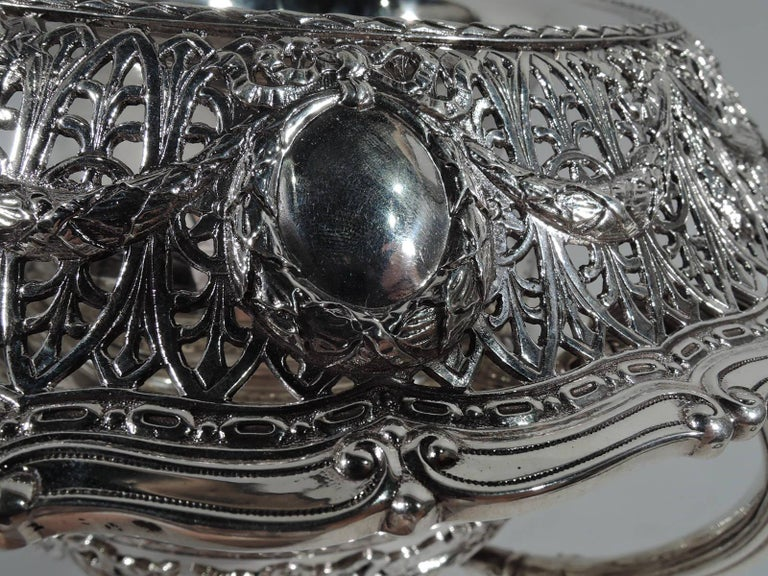 American Antique Shreve Sterling Silver Wine Cooler in Adam Pattern For Sale