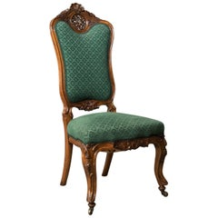 Antique Side Chair, 19th Century, Nursing, Salon, English, Walnut, circa 1820