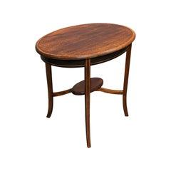 Antique Side Table, English, Mahogany, Walnut, Lamp, Occasional, Regency, C.1820