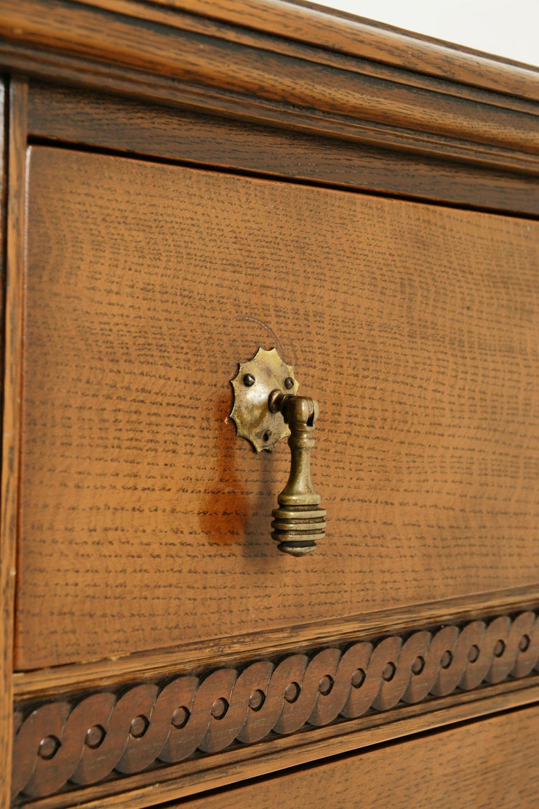 Antique Sideboard Antique Buffet Carved Oak Credenza