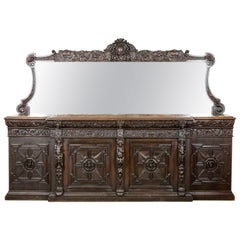 Antique Sideboard, Buffet, Victorian Sideboard, Carved Oak, Scotland, 1870