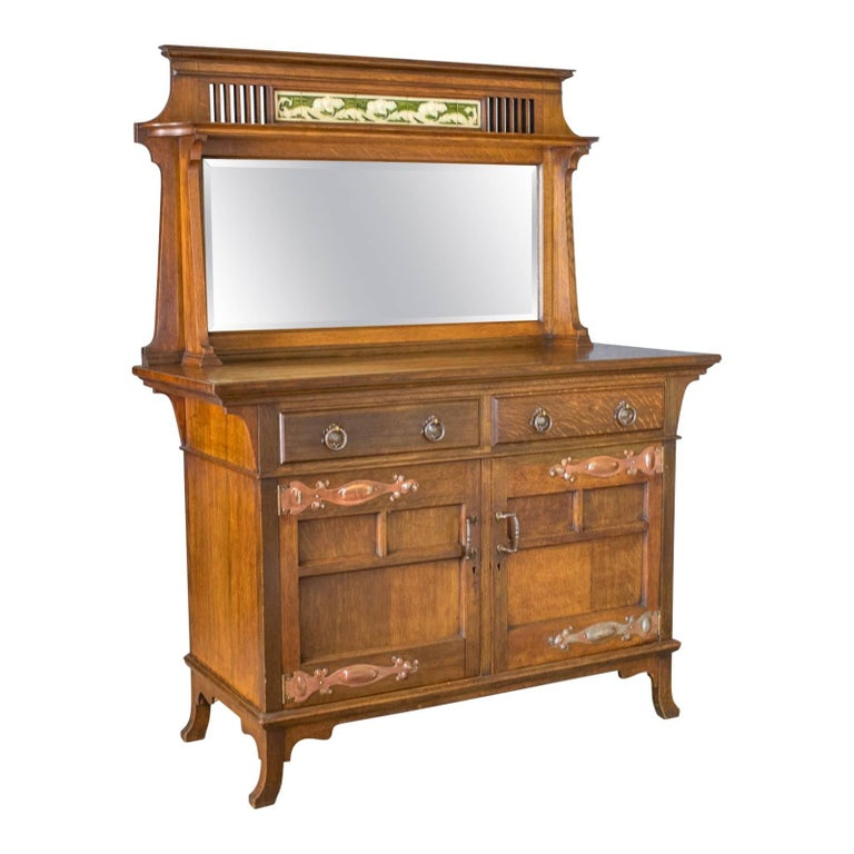 Antique Sideboard, English Oak, Arts & Crafts Cabinet, Liberty Taste, circa  1900 - Antique Sideboard, English Oak, Arts And Crafts Cabinet, Liberty