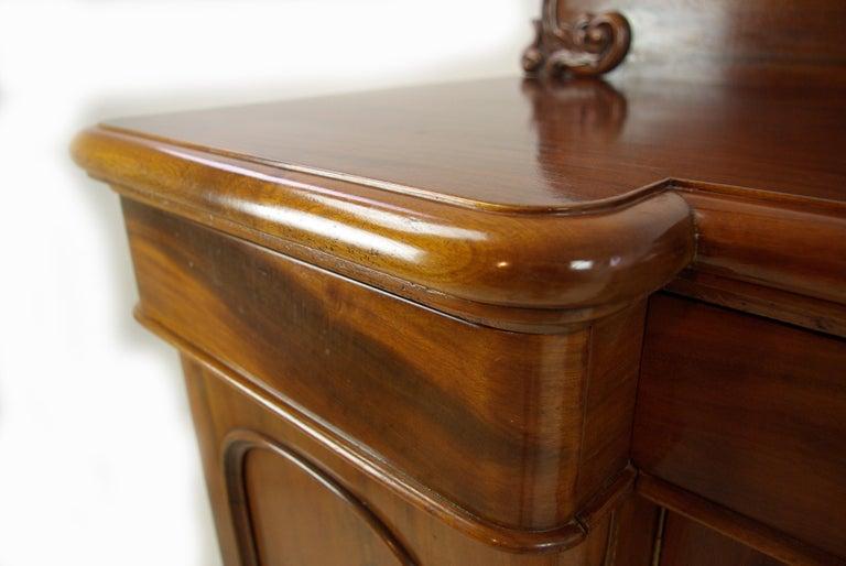 Antique Sideboard Walnut Buffet Chiffonier Scotland