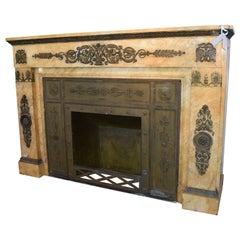 Antique Sienna Marble Mantel
