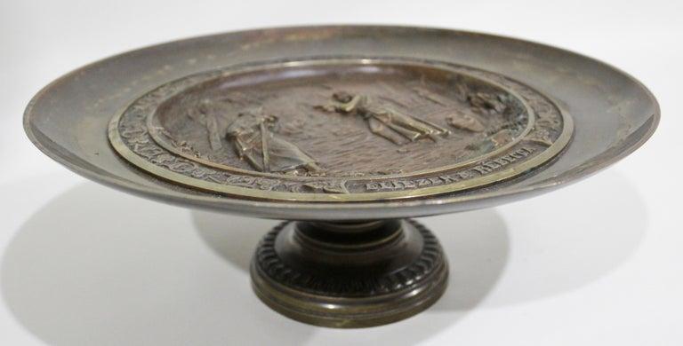 C. Perron Antique Cast Bronze Tazza with Judaic Motif   For Sale 1