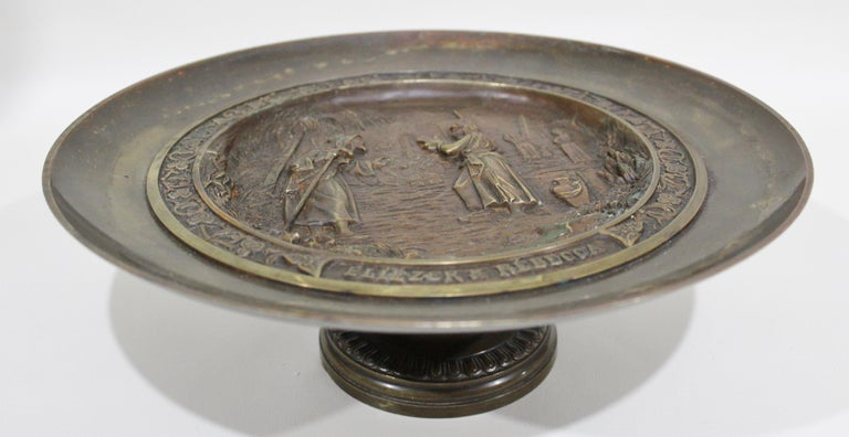 C. Perron Antique Cast Bronze Tazza with Judaic Motif   For Sale 2