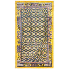 Antique Silk Chinese Rug. Size: 4 ft 2 in x 7 ft (1.27 m x 2.13 m)