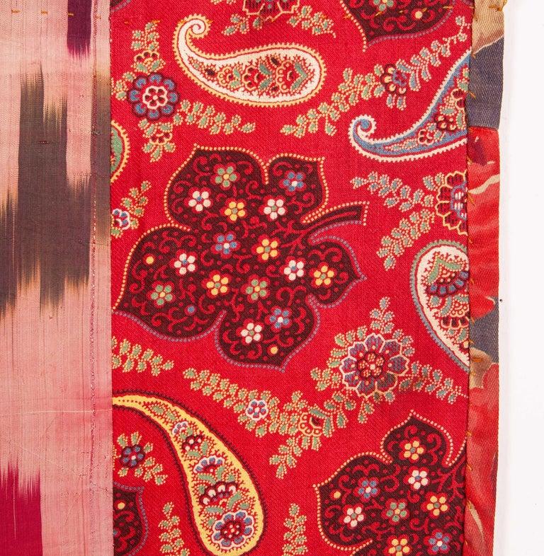Uzbek Antique Silk Ikat Panel, Early 20th Century For Sale