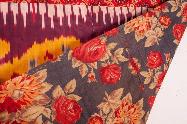 Antique Silk Ikat Panel, Early 20th Century In Good Condition For Sale In Istanbul, TR