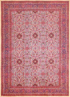 Antique Silk Kashan Persian Rug