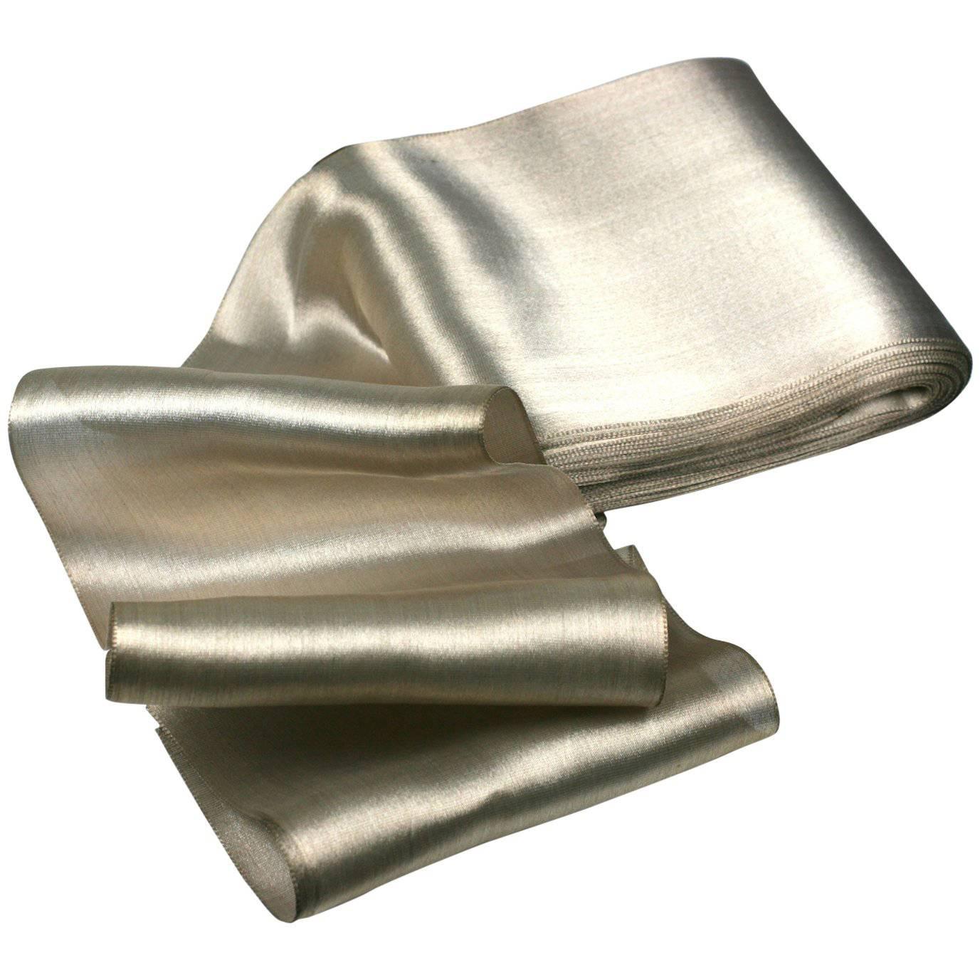 Antique Silk Lame Silver Ribbon