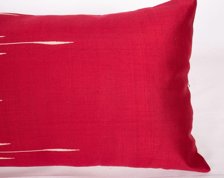 Antique Silk Lumbar Pillow Case Made from a Silk Syrian Textile, Early 20th C. In Good Condition For Sale In Istanbul, TR