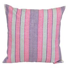 Antique Silk Pillowcase/Cushion Cover Made from an Early 20th C. Uzbek Silk