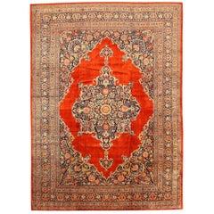 Antique Silk Tabriz Haji Jalili Persian Rug. Size: 10 ft 7 in x 14 ft 5 in