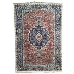 Antique Silk Turkish Kayseri Rug