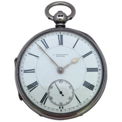 Antique Silver Key-Winding Pocket Watch Signed J. Bolloten Bangor