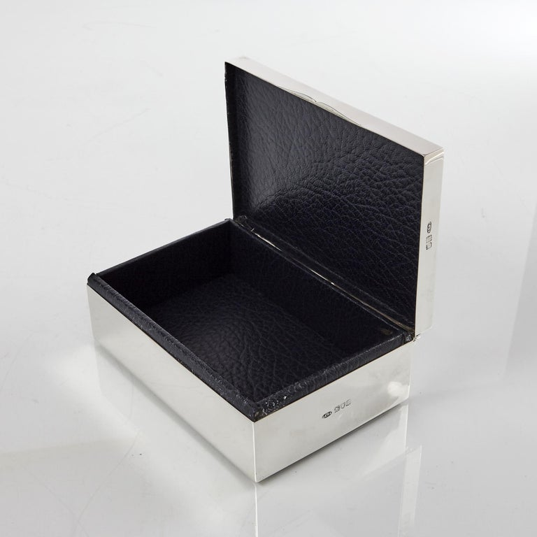 Early 20th Century Antique Silver Bridge Cardbox For Sale