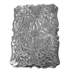 Antique Silver Card Case, Birmingham 1869 Frederick Marson
