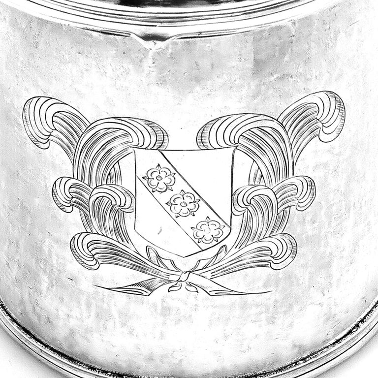 18th Century and Earlier Antique Silver Charles II Lidded Tankard Mug 1673 17th Century Beer Ale Tankard For Sale