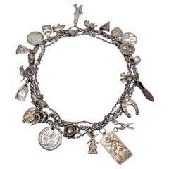 Antique Silver Charm Longguard Necklace