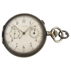 Antique Silver Chronograph Pocket Watch