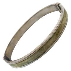 Antique Silver Clasp Cuff Bracelet