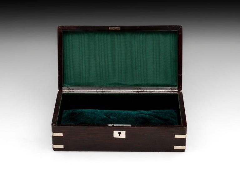 Antique Silver Corner Jewelry Box, 19th Century For Sale 2