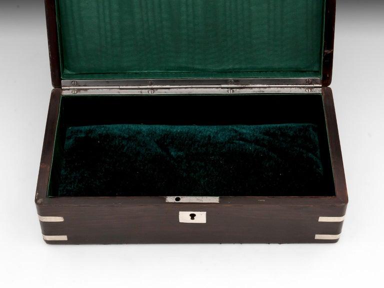 Antique Silver Corner Jewelry Box, 19th Century For Sale 3