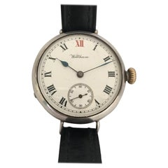 Antique Silver Dennison Case WWI Waltham Trench Watch