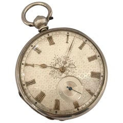 Antique Silver Dial Pocket Watch Signed GF London