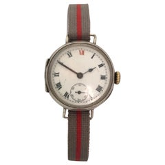 Antique Silver Dimier Freres & Cie 'DF&C' Trench Watch