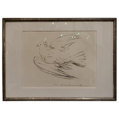 Antique Silver Framed Vintage Picasso Lithograph