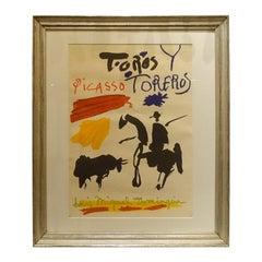 Antique Silver Framed Vintage Picasso Poster