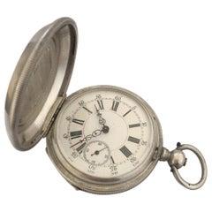 Antique Silver Full Hunter Cased Pocket Watch Signed Robert Roskell, Liverpool