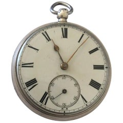 Antique Silver Fusee Pocket Watch Signed Ashdown & Barlette, Maidstone
