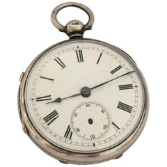 Antique Silver Fusee Pocket Watch Signed James Wood, Neston