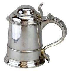 Antique Silver Georgian Tankard, England, London, 1808
